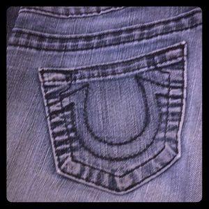 True Religion wide leg jeans